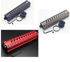 10'' Quad Rail Mount System Free Float Handgaurd w/o End Cap Red / Black / Tan