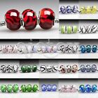 5/10pcs Murano Glass Beads Lampwork Beads Fit European Bracelet DIY Wholesale