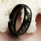 Lord of the Rings Black Titanium Steel Band Ring Size 7-12