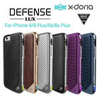 For iPhone 6 6S Plus X-Doria Drop Tested Metallic Bumper Leather Back Case Cover