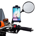 Motorcycle Mirror Stem Bike Mount  + One Holder for Samsung Galaxy S8 / S8+