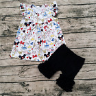 Girls Minnie Mouse Cinderella Dumbo Flutter Pearl Icing Shorts Outfit 12M-6