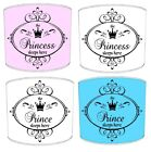 Kiddies Lampshades Ideal To Match The Princess Prince Sleeps Here Duvets Covers.
