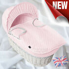 Super Soft Dimple Moses Basket Replacement Dressing Covers, Hood + Rods