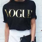 Women Summer Short Sleeve T-shirts Cotton Letter Printed Tops Tee Blouse gt