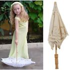 Retro Kids Girls Lace Parasol Sun Umbrella Bridal Wedding Party Decorations