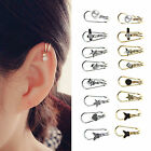 WL Non Piercing Silver Gold Plated Cartilage Ear Cuff Earrings Wrap Clip Jewelry