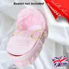 Isabella Alicia Broderie Anglaise Replacement Moses Basket Dressing Covers,Hood