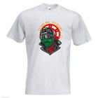 Captain Fast Mens PRINTED T-SHIRT Old School Biker Guts Glory Helmet Goggles