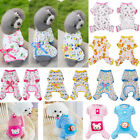 Pet Clothes Dog Jumpsuit Soft Cozy Puppy Dog Shirt Costumes Cat Pajama Apparels