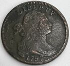 1797 Large Cent Draped Bust One Cent nice early coin, many details 4644
