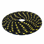 Black Polypropylene Rope Braided Cord Line Sailing Boating Camping Yachting HQ