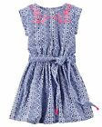 Carter's   Girls' Embroidered Jersey Shirt Dress    MSRP$28.00   Size 4--8