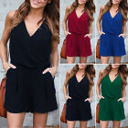 Ladies Summer Casual Jumpsuit Womens Chiffon Beach Holiday Top Short Playsuit