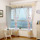 Romantic Floral Butterfly Sheer Curtains Sheers Voile Tulle Window Curtain