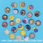 10/12/14/16/20/25/30MM Image Sun & Moon Glass Round Dome Magnify Cabochons Beads