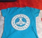 T SHIRT LADY FIT THORS MJOLNIR AZURE