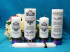 Unity Candle Complete Set with Memorial Candle Personalized Damask Design