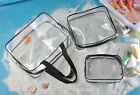 New 3-in-1 PVC Transparent Cosmetic Tote Makeup Bag Toiletry Storage Handbags