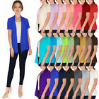 Внешний вид - JDStyle Women's Basic Short Sleeve Open Front Cardigan(Size:S-5X)USA - AT1188