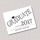 Personalized GRADUATE Graduation Thank You Note Cards - Any Color!