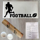 Wall Decal Quote Football Player Silhouette Vinyl Letters Sports Decal (PC37)