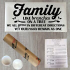 Wall Decal Quote Family Branches Decal Vinyl Home Decal Family Decal (PC10)