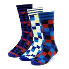 Men's Bold Colorful Checker Dress Casual Socks 10 - 13 New