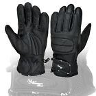 Vented Leather Motorbike Motorcycle Gloves Knuckle Gloves