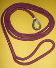"5/8"" x 10' Burgundy / Maroon Mooring Pendant / Line  Made USA - Free Shipping"