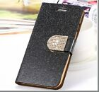 Luxury Design Glitter PU Leather Wallet Case Cover For iPhone 5C+Gift Box