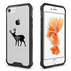 For Apple iPhone X 6 6s 7 8 Plus Clear Shockproof Bumper Case Deer with Bullseye