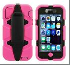 Heavy Duty Hybrid Survival Case Cover+Built-in Screen For iPhone 5/5s+Retail Box