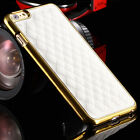 Luxury Classic Grid Pu Leather Back Case Cover For iPhone 6/6s Plus+Gift Box