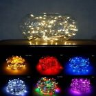 60 LED 10ft Copper Wire String Lights, Battery Powered, Party, Xmas, Wedding, US
