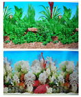 """Aquarium Fish Tank poster 28""""H Background Double sided picture water tree stone"""