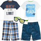 NWT Gymboree STRIPES IN SPACE Boys Size 7 Shorts Tee Shirts Sunglasses 5-PC SET
