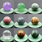 30mm Natural Gemstone Rock Round Ball Crystal Healing Decor Sphere Massage Craft