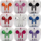 5x10x Lot Wht & Color Earpods Earphones Earbuds Headsets Remote Mic, For Iphone