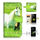 LG G6 Wallet Case Cover AJ20202 White Horse