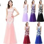 Long Lace Prom Dresses Evening Formal Party Ball Gown Cocktail Bridesmaid Dress