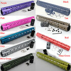 15'' inch Keymod Handguard Rail Free Float System Black/Red/Tan/Purple/Blue/Pink
