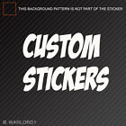 Custom Sticker - Contact Us for Instructions
