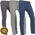 Mens SLIM FIT JEANS Denim Pants Stretch Light Weight Premium Quality Comfortable
