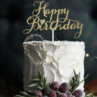 Gold Silver Cake Topper Happy Birthday Party Supplies Decorations 13cm GT
