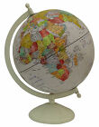 Large Decorative Rotating Globe World Geography Beige Ocean Earth Home Décor