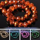 Wholesale Rondelle Faceted Crystal Glass Loose Spacer Beads Finding 4MM