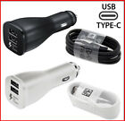 OEM Samsung Galaxy S8/S8 plus C9 Fast Car Charger Dual USB Adapter Type C Cable