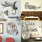 Big Wild Cat Wall Art Sticker Large Vinyl Transfer Graphic Decal Home Decor UK