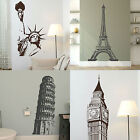 Famous Landmark Wall Stickers Transfer Graphic Decals Decor Stencil Interior Art
